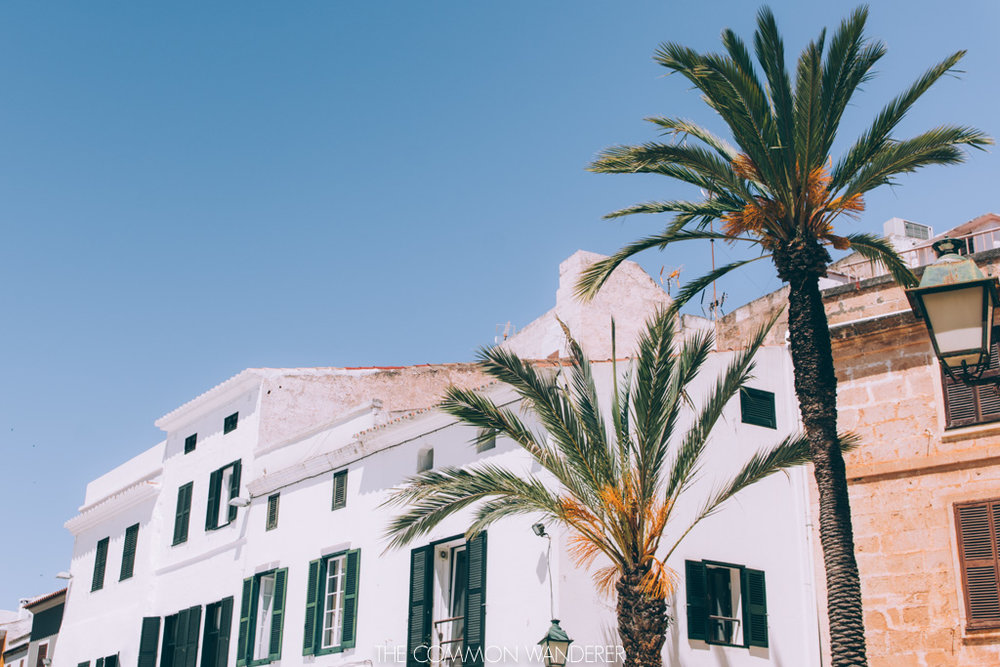the beautiful streets of Ciutadella, Minorca