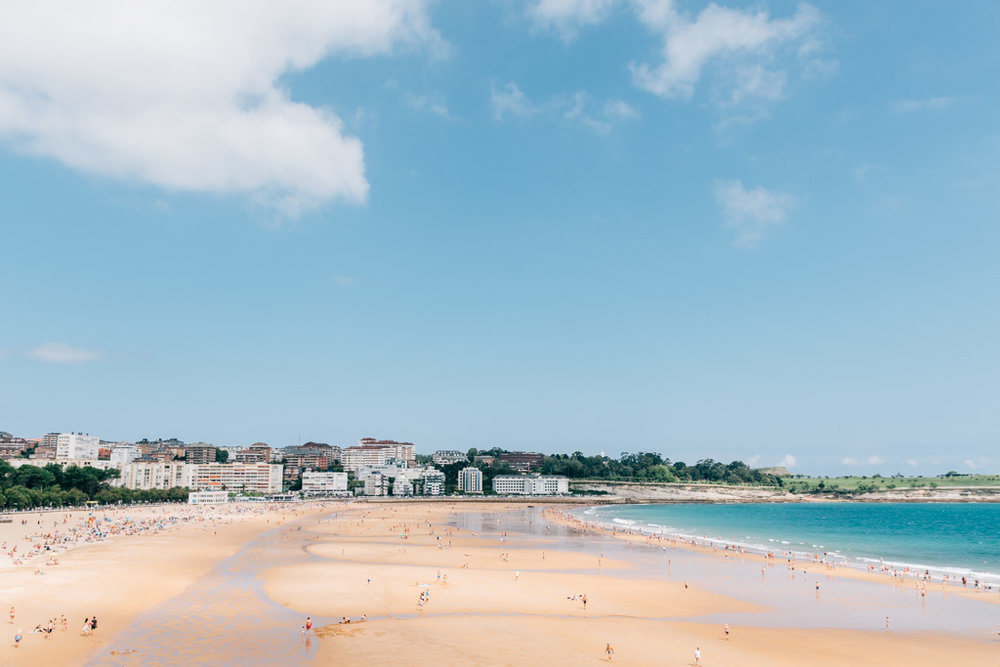 golden sands of el sardinero beach santander