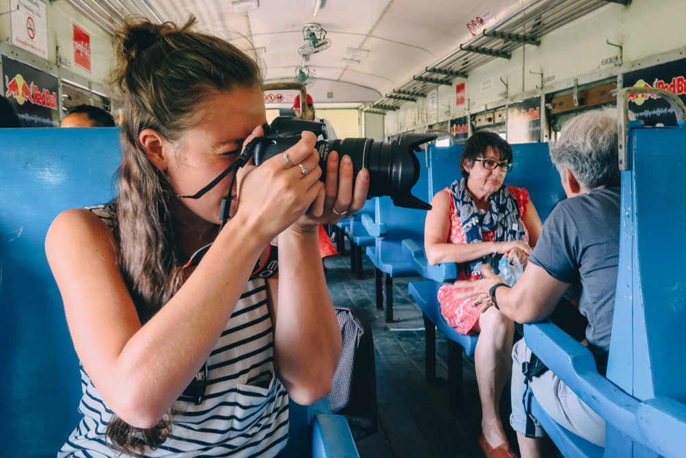 The Common Wanderer_taking photos on the Yangon Circle Line Train