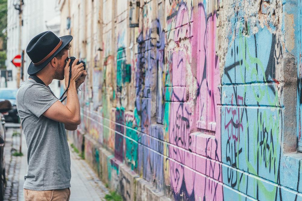 the thriving street art scene of Bucharest