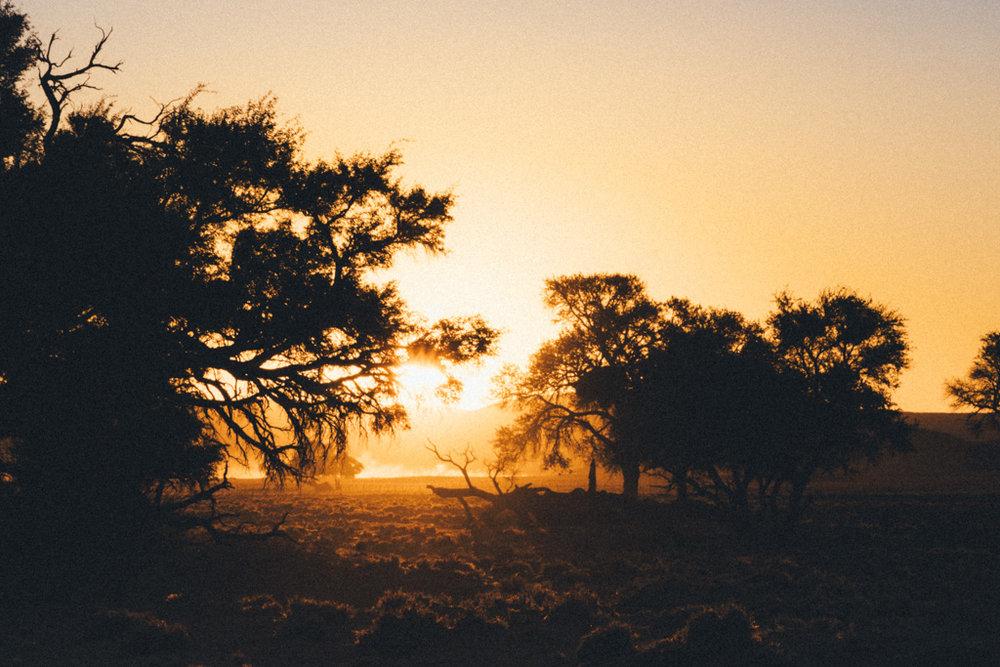 Sunsets over Sossusvlei Namibia
