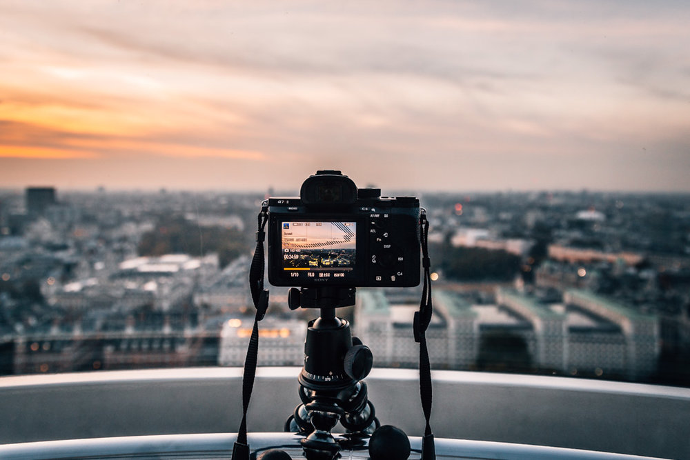 Photographing sunset over London using the Sony A7rII in timelapse mode