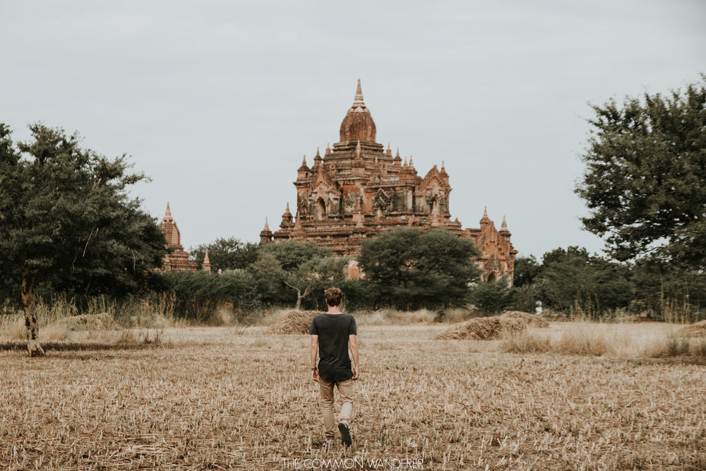 Sun rises over temples in Bagan, Myanmar
