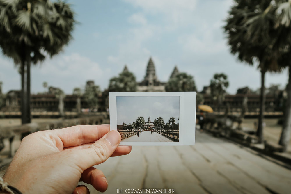 Cambodia photo diary - polaroid of angkor wat