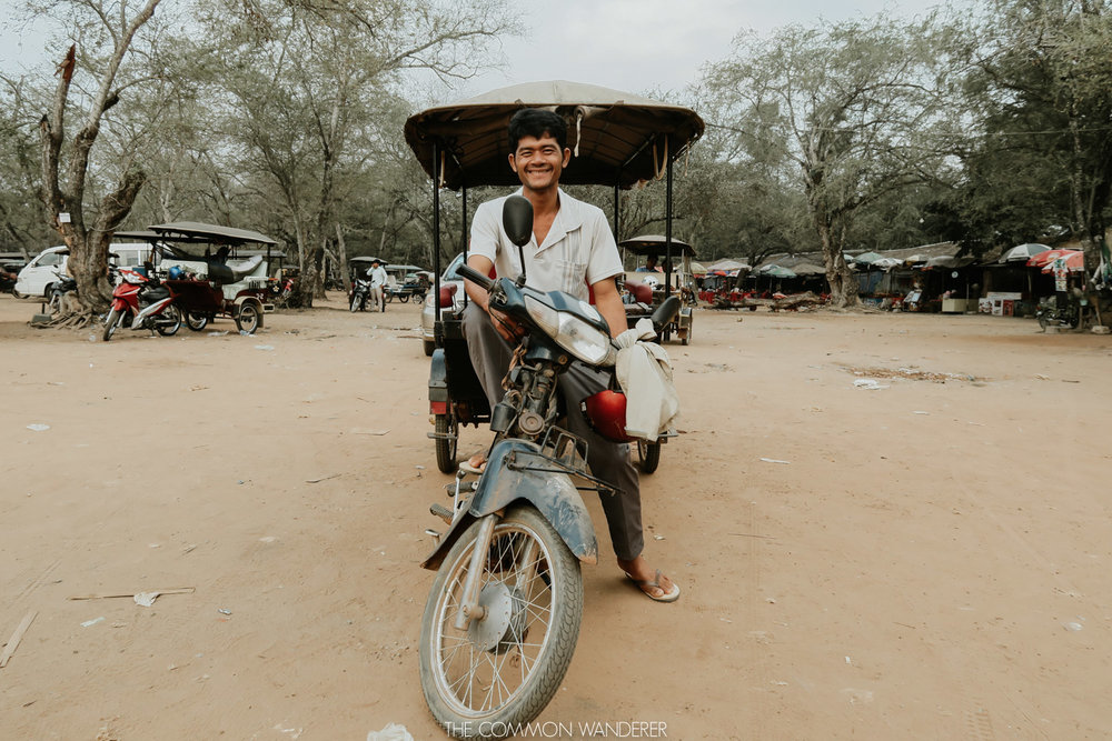 Cambodia photo diary - tuk tuk driver outside siem reap