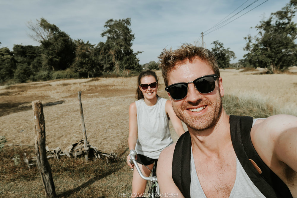cost of travelling in Laos - cycling around Don Det