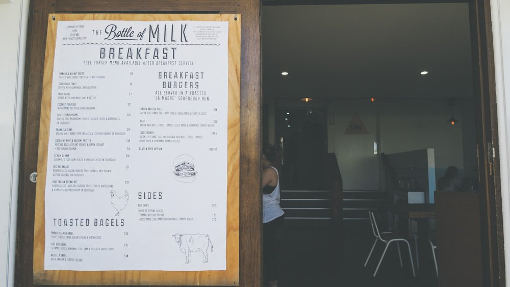 Day trips from Melbourne - the bottle of milk in lorne on the great ocean road