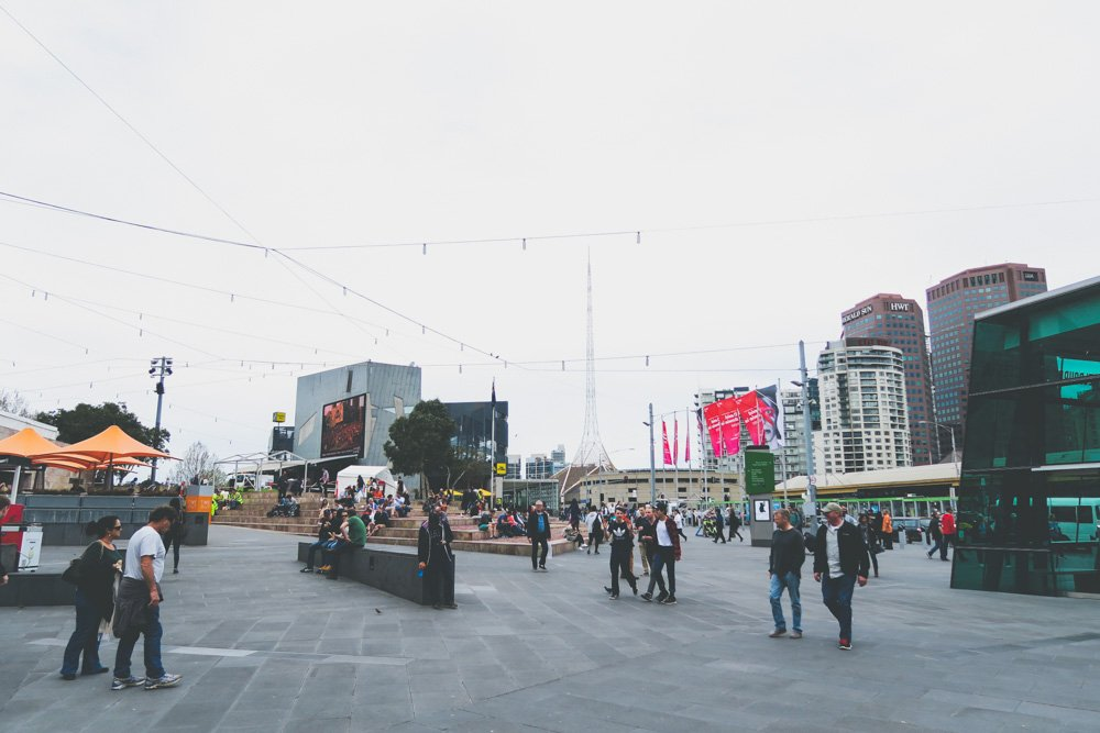 Melbourne on a budget - federation square