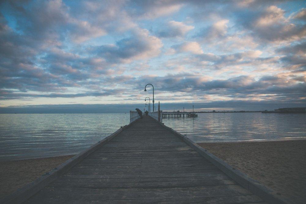 Melbourne on a budget - st kilda beach