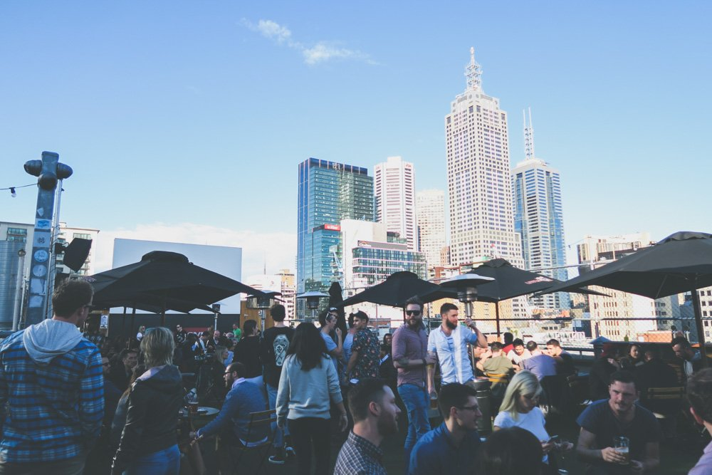 Melbourne on a budget - curtin house rooftop