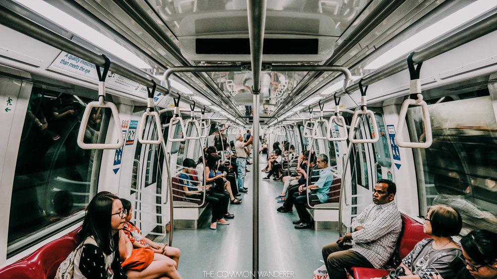 the MRT (mass rapid transit) in Singapore