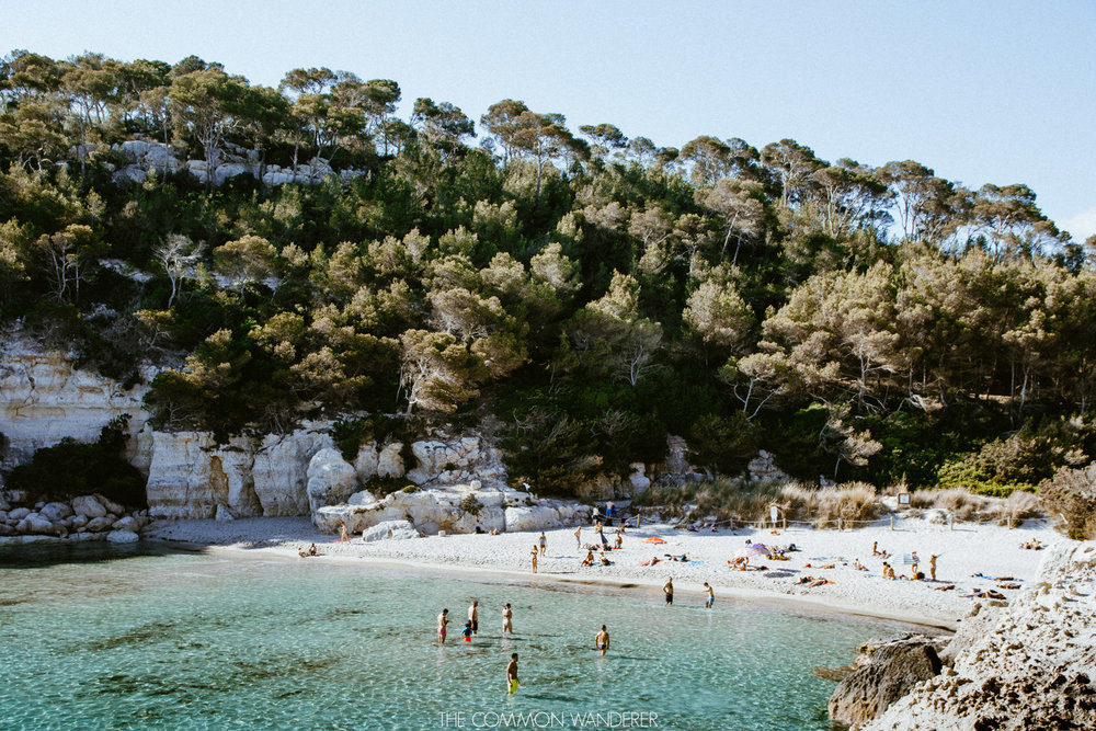 Cala Mitjana - a great reason to Visit Menorca for your next summer holiday - The Common Wanderer