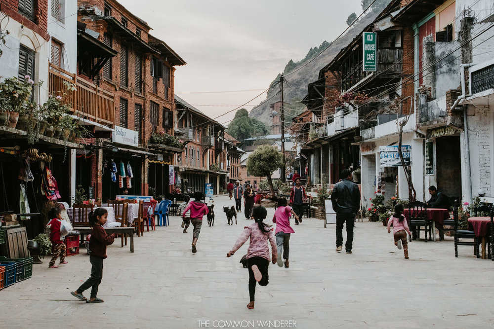 Photos of Nepal - Bandipur town in the mountains