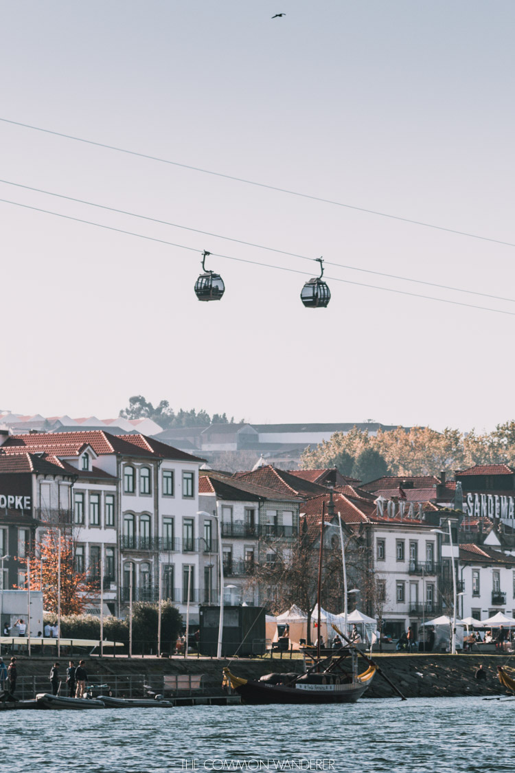 The Porto cable car over the River Douro - Porto photo diary. The Common Wanderer | @thecommonwanderer