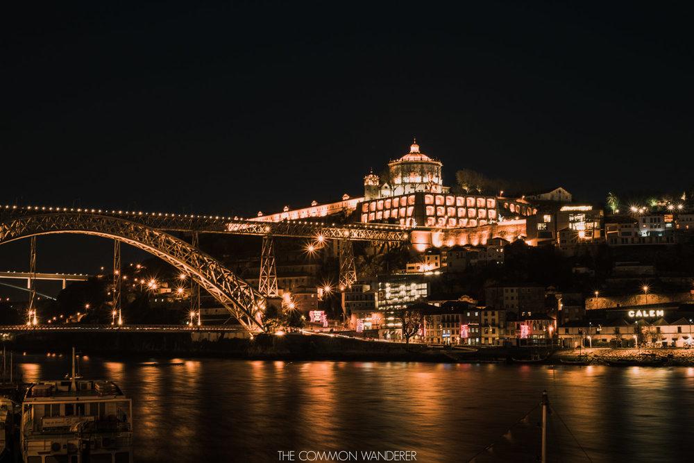 The Douro River at night, the perfect Porto photo location