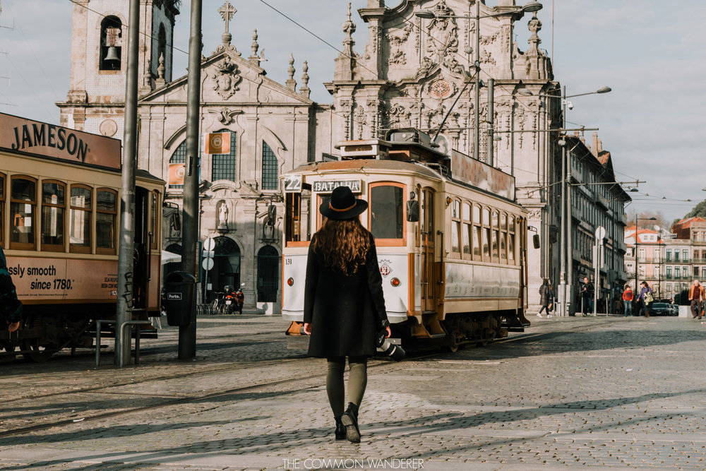 Catching the Porto city tram - the perfect addition to a weekend in Porto itinerary