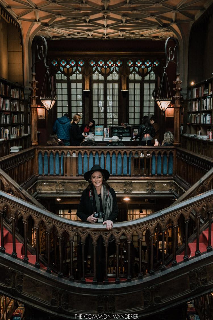 Inside the famous Livraria Lello bookstore in Porto - one of the most popular attractions in Porto