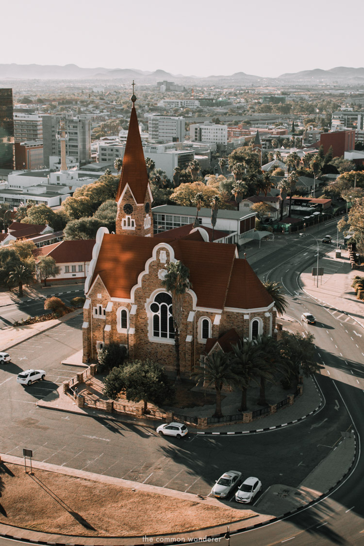 Christuskirche in glorious afternoon light, Windhoek, Namibia