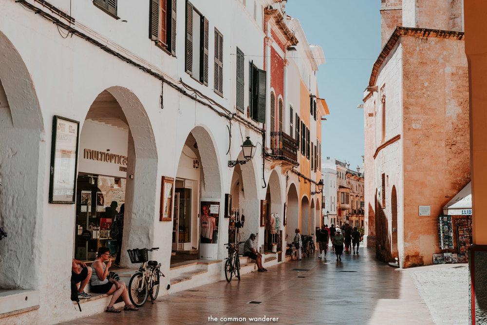Ses Voltes street, Ciutadella, Menorca