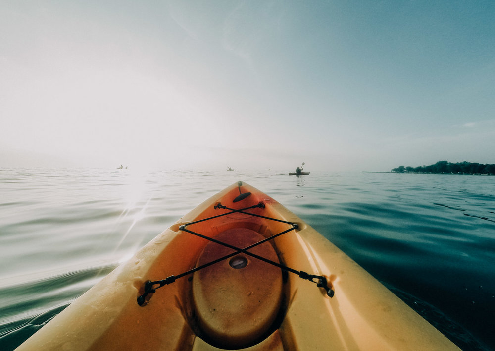 We lost all of our kayaking photos :( - Photo by  Aaron Burden  on  Unsplash