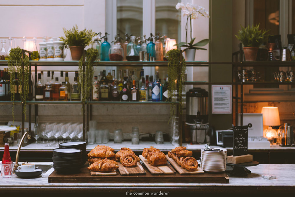 Pastries and coffees at foyer cafe of the Hoxton Paris - THECOMMONWANDERER.COM