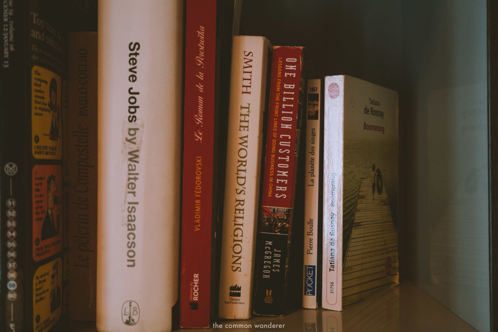 The book selection chosen by one of the 172 Parisians who chose the Hoxton Paris' library - THECOMMONWANDERER.COM