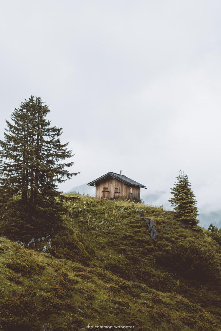 A pretty alpine hut in Zus, Lech, Austria