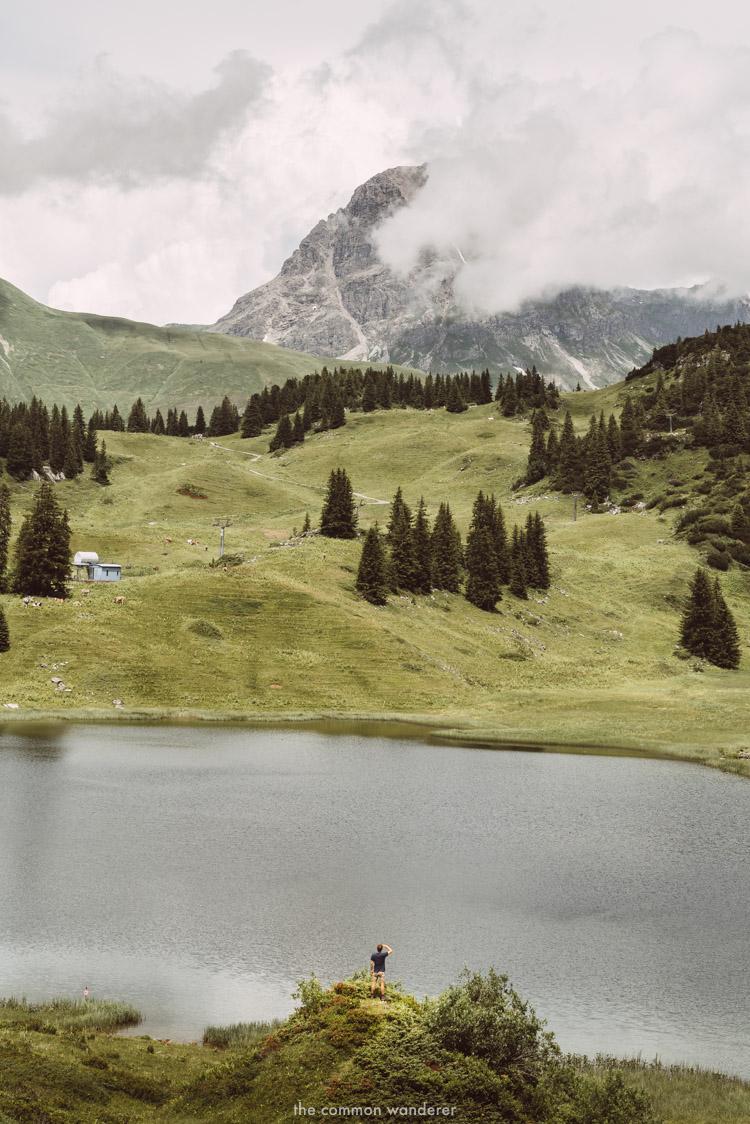 Overlooking Lake Körbersee, Vorarlberg