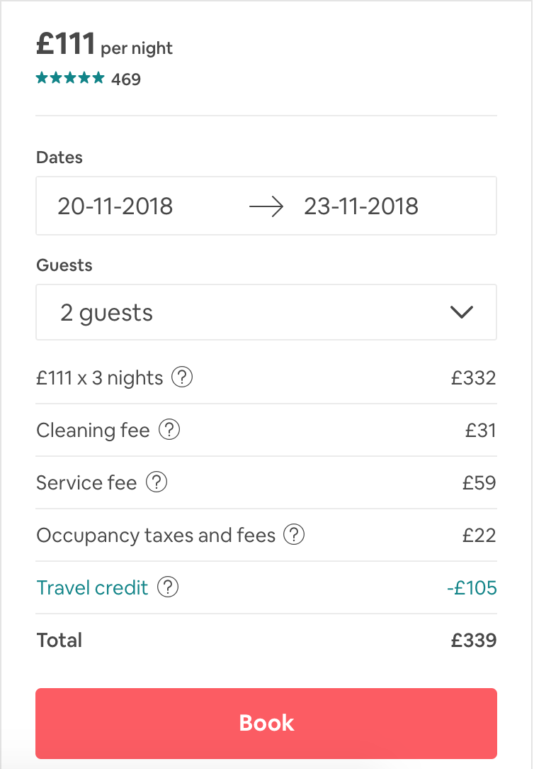 Airbnb guide - always check the price