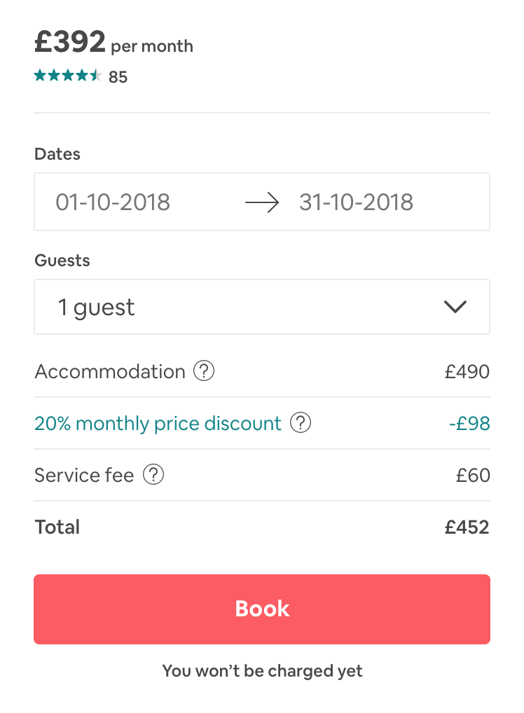 look out for monthly discounts airbnb guide
