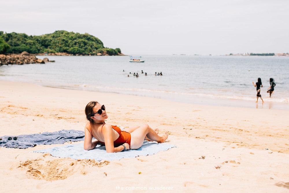 Relaxing at Jungle Beach, Unawatuna - best things to do in Unawatuna