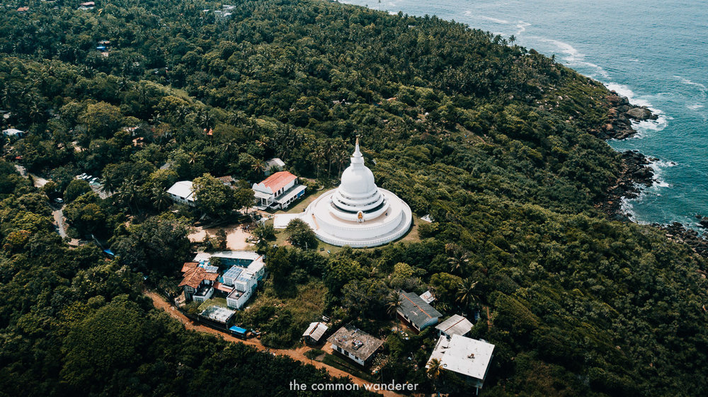 The incredible views from the Japanese peace pagoda, Unawatuna - best things to do in Unawatuna