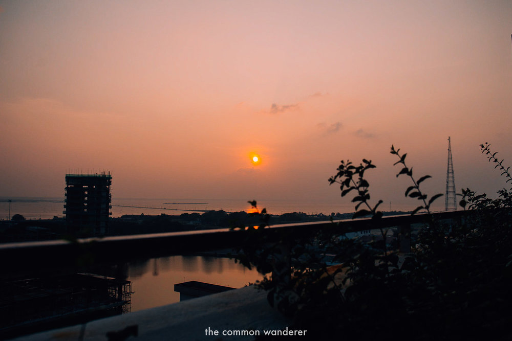 Sunset drinks at Jetwing Jaffna - one of the best things to do in Jaffna, Sri Lanka