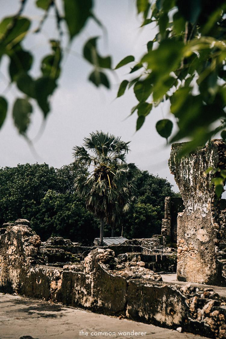 The ruins inside Jaffna Fort, Jaffna