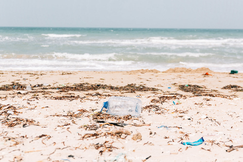 Plastic pollution on the beaches of Sri Lanka