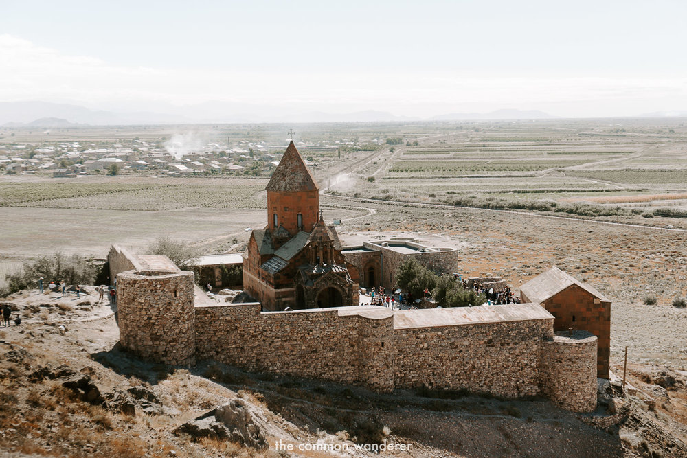 Khor Virap monastery from the hill
