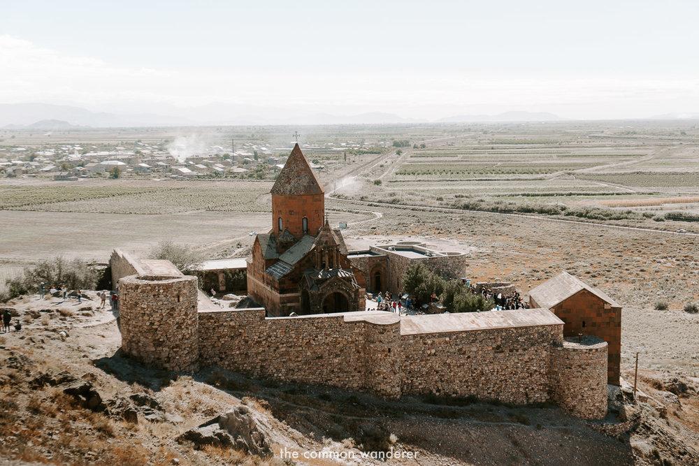Khor Virap monastery from the hill