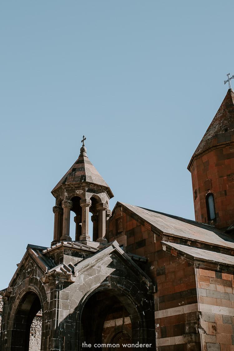 The interior church in Khor Virap Monastery, Armenia