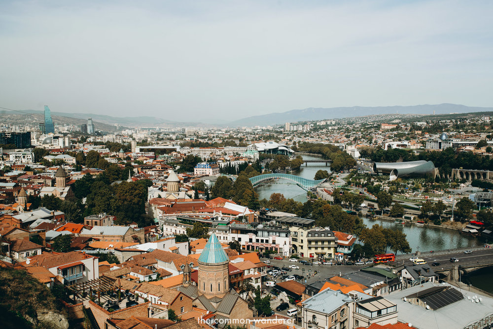 Overlooking the capital of Georgia, Tbilisi