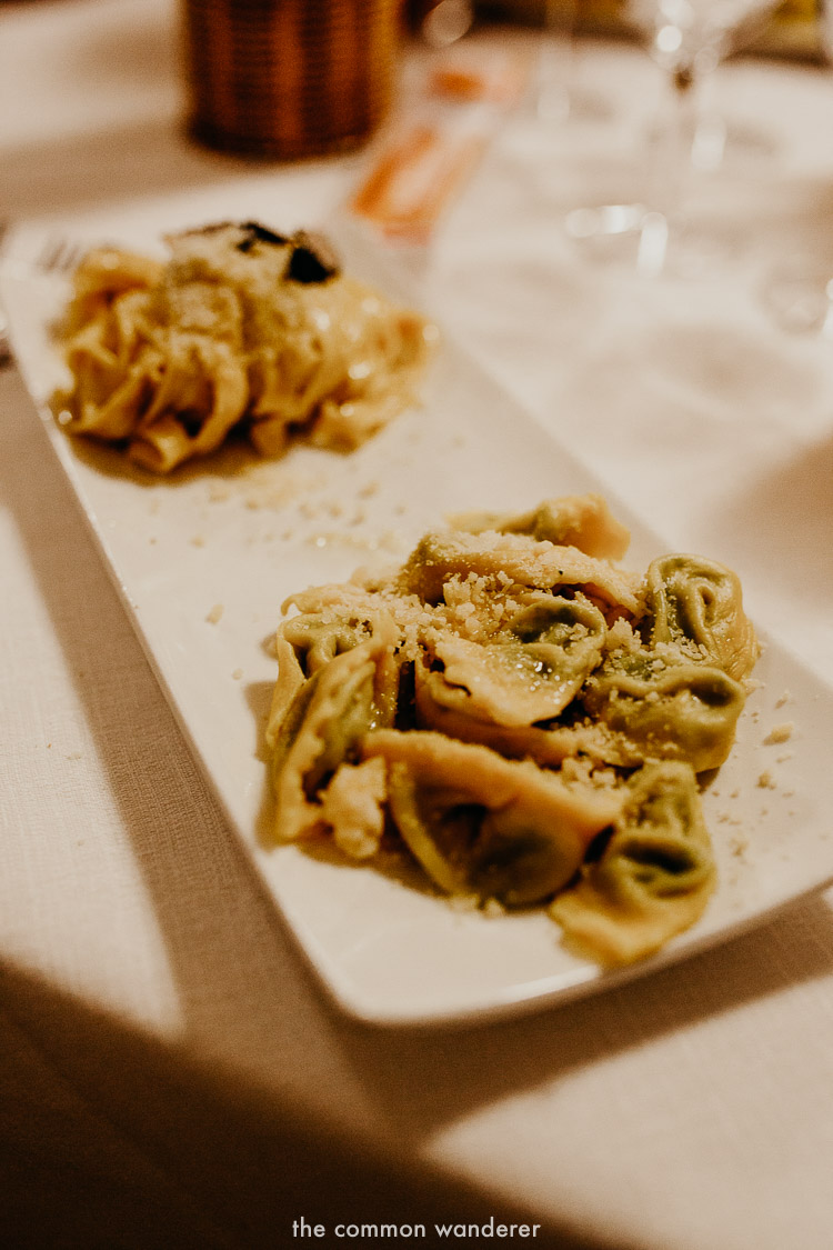 The best Italian food while hiking the Via Matildica in Emilia Romagna, Italy