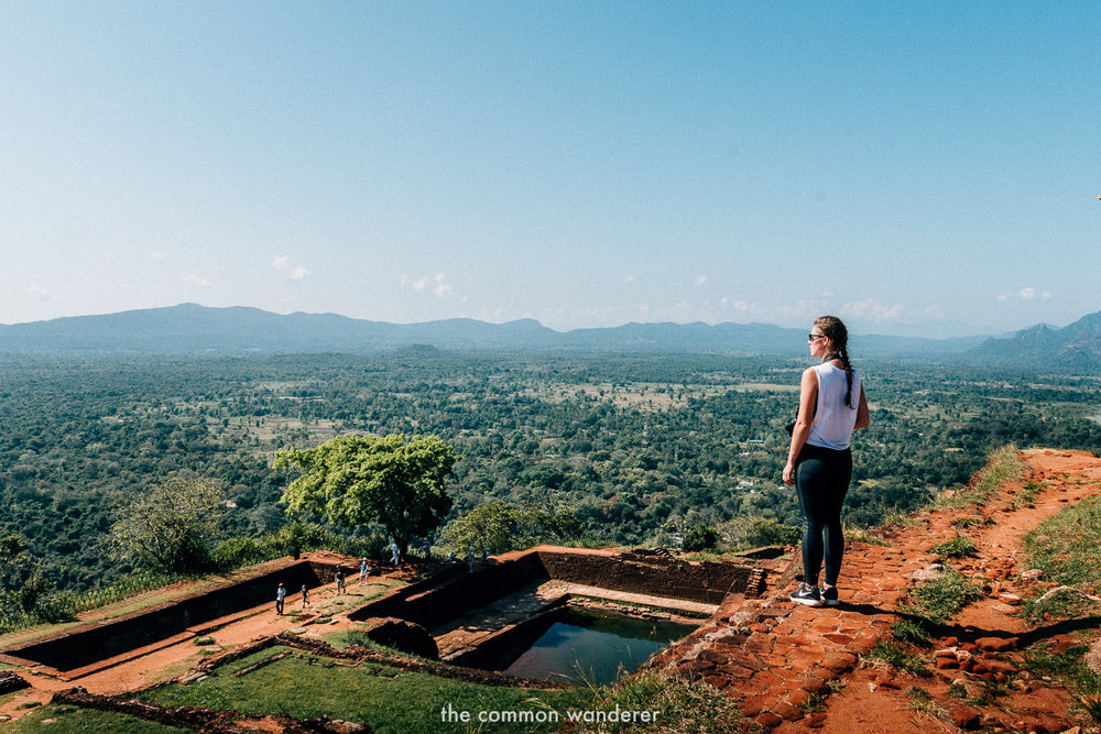 Standing on top of Sigiriya/Lion Rock, Sri Lanka - the best things to see and do in Sri Lanka