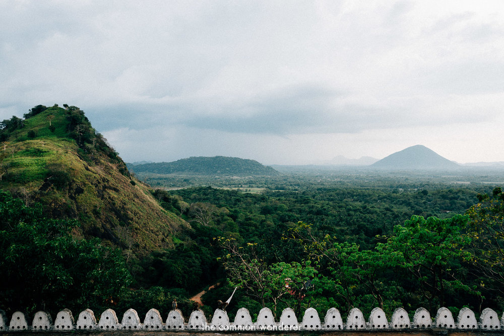 Overlooking Dambulla plains from Dambulla cave temple, Sri Lanka - the best things to see and do in Sri Lanka