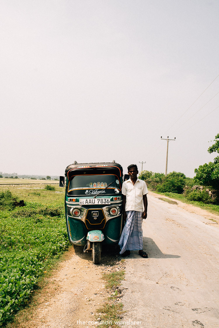 A tuk tuk driver on Delft Island, Jaffna - the best things to see and do in Sri Lanka