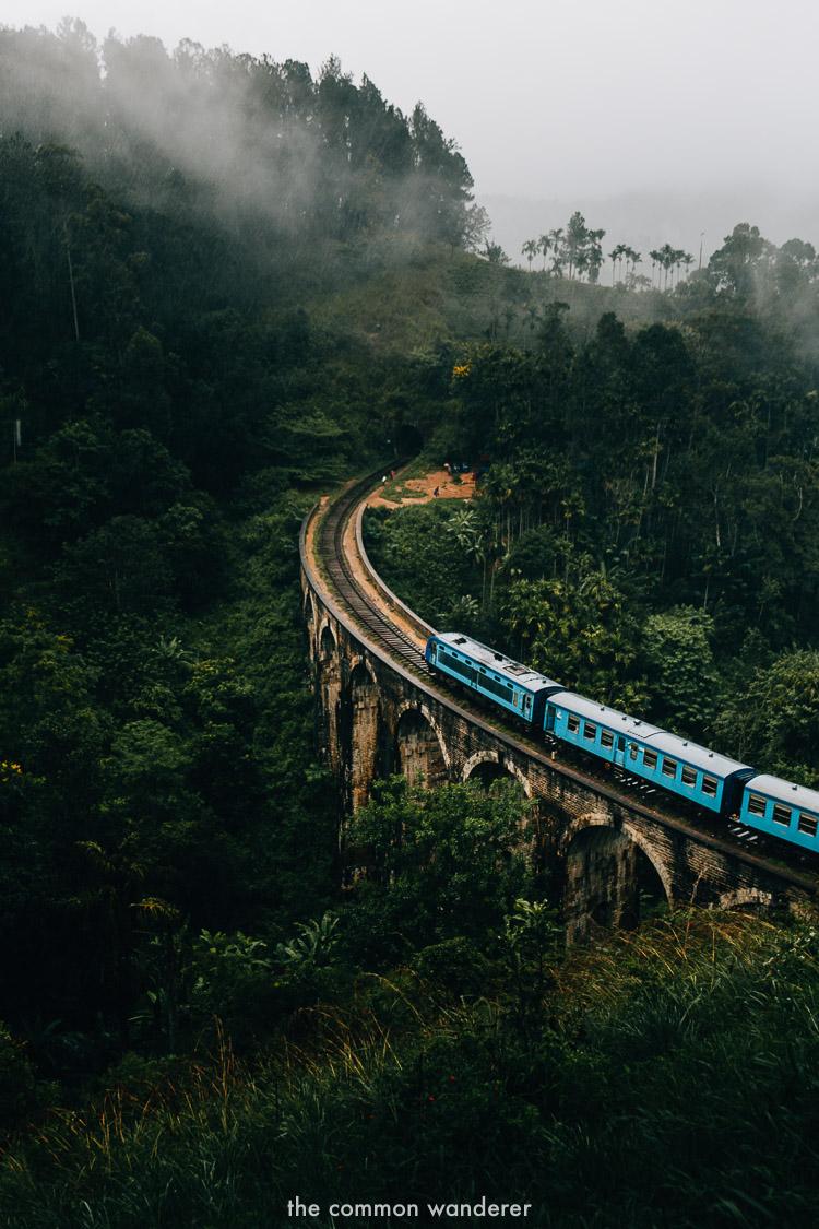 The stunning nine arch bridge in Ella, Sri Lanka