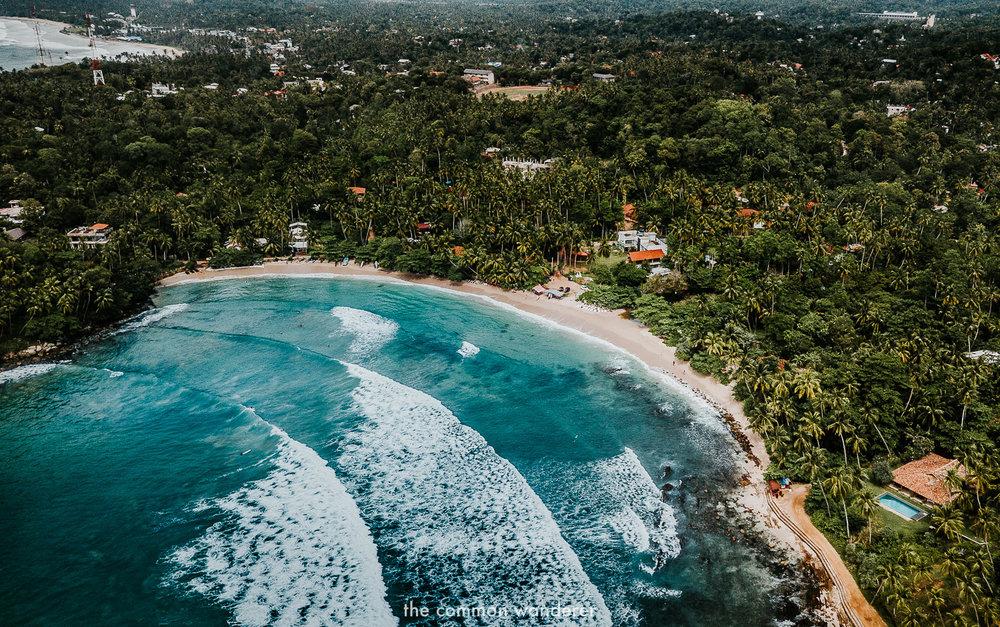Hiriketiya beach on Sri Lanka's south coast