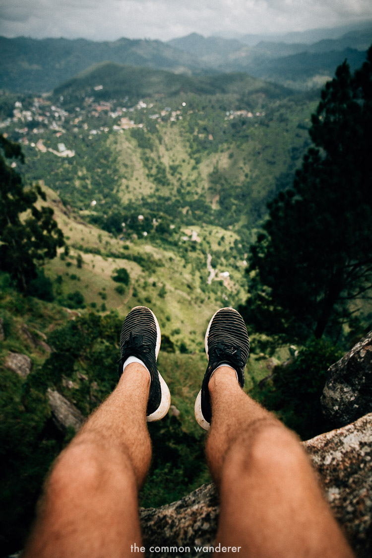hanging out on the edge of Ella rock - best things to do in Sri Lanka