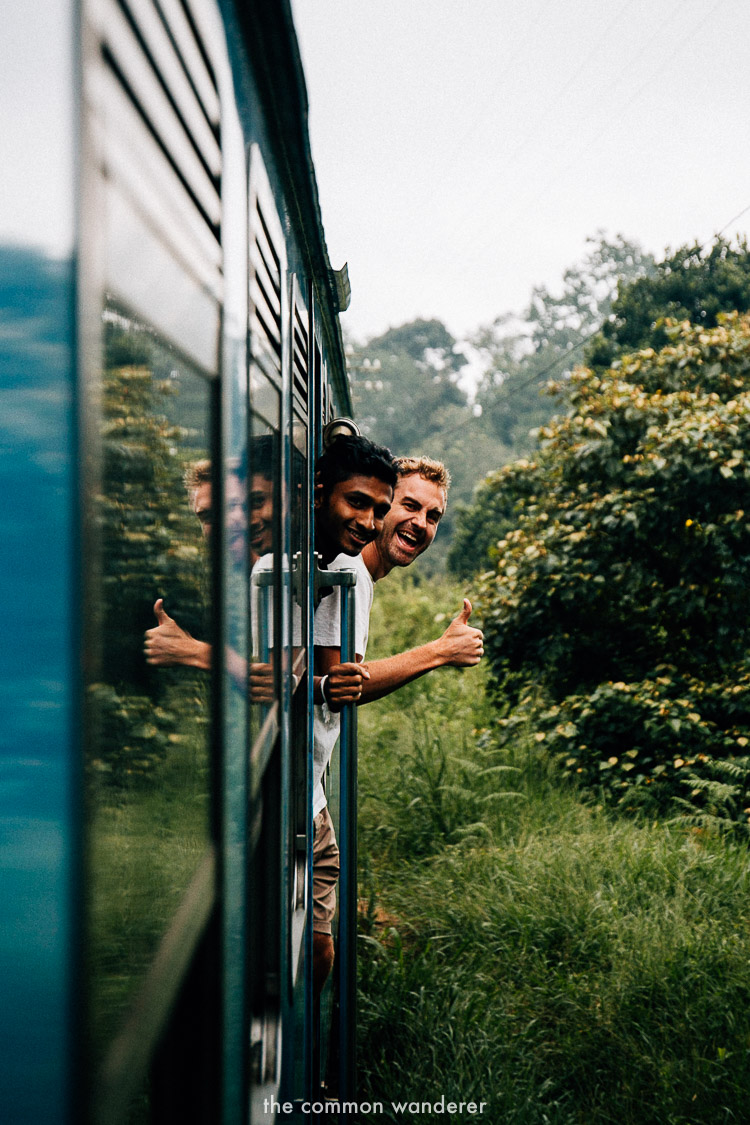 Hanging out with locals on the Ella to Kandy train, best things to do in Ella
