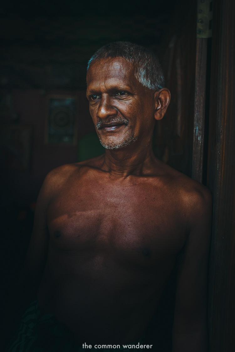Sarath, the owner of Cinnamon island, Koggala lake