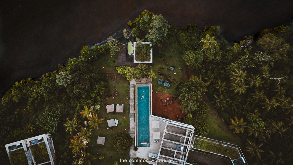 An aerial view of Tri Lanka hotel from above