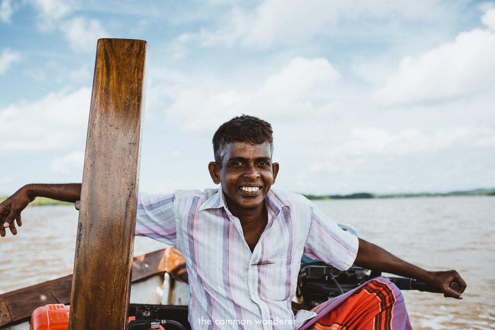 A portrait of the boat captain at Tri Lanka, Koggala Sri Lanka